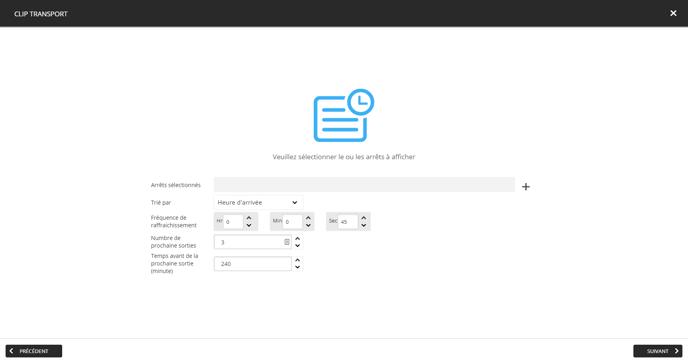 5. Configurer les données de transport pour votre clip