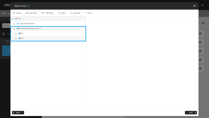"4. Select the ""COMMUNICATIONS COVID-19"" folder"
